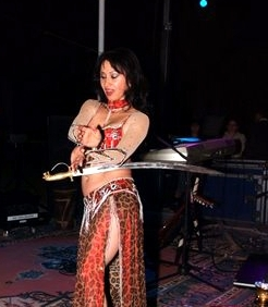 Traditional Belly dancer during Abu Dhabi desert safari