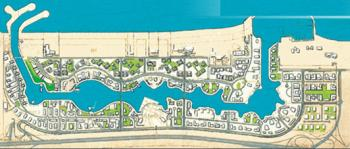 Map of Dubai Marina Creek