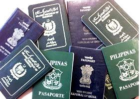 Passport, Pakistan, Philipine, Russia